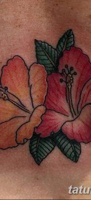 фото тату Гибискус от 20.04.2018 №047 – tattoo Hibiscus – tatufoto.com 37354363