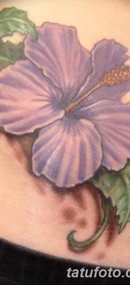фото тату Гибискус от 20.04.2018 №049 – tattoo Hibiscus – tatufoto.com