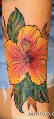 фото тату Гибискус от 20.04.2018 №050 – tattoo Hibiscus – tatufoto.com