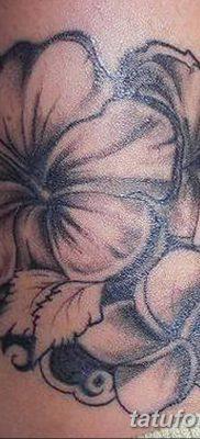 фото тату Гибискус от 20.04.2018 №052 – tattoo Hibiscus – tatufoto.com