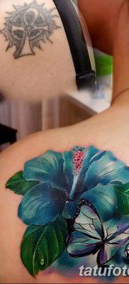 фото тату Гибискус от 20.04.2018 №054 – tattoo Hibiscus – tatufoto.com