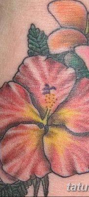 фото тату Гибискус от 20.04.2018 №059 – tattoo Hibiscus – tatufoto.com