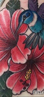 фото тату Гибискус от 20.04.2018 №070 – tattoo Hibiscus – tatufoto.com