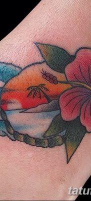 фото тату Гибискус от 20.04.2018 №071 – tattoo Hibiscus – tatufoto.com