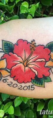 фото тату Гибискус от 20.04.2018 №072 – tattoo Hibiscus – tatufoto.com