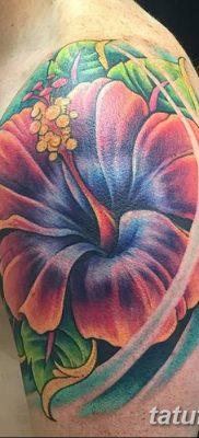 фото тату Гибискус от 20.04.2018 №073 – tattoo Hibiscus – tatufoto.com