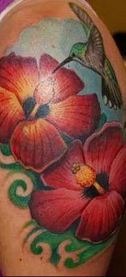 фото тату Гибискус от 20.04.2018 №075 – tattoo Hibiscus – tatufoto.com