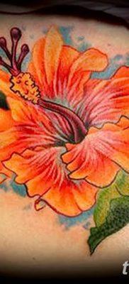 фото тату Гибискус от 20.04.2018 №077 – tattoo Hibiscus – tatufoto.com