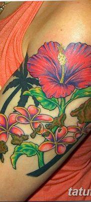 фото тату Гибискус от 20.04.2018 №078 – tattoo Hibiscus – tatufoto.com