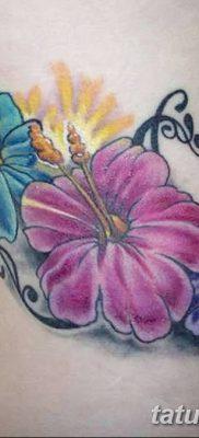 фото тату Гибискус от 20.04.2018 №080 – tattoo Hibiscus – tatufoto.com