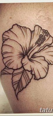 фото тату Гибискус от 20.04.2018 №081 – tattoo Hibiscus – tatufoto.com