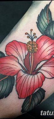 фото тату Гибискус от 20.04.2018 №085 – tattoo Hibiscus – tatufoto.com