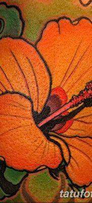 фото тату Гибискус от 20.04.2018 №087 – tattoo Hibiscus – tatufoto.com