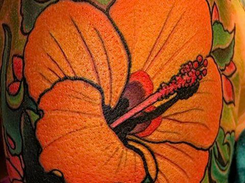 фото тату Гибискус от 20.04.2018 №087 - tattoo Hibiscus - tatufoto.com