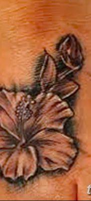 фото тату Гибискус от 20.04.2018 №089 – tattoo Hibiscus – tatufoto.com