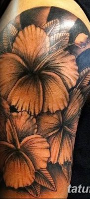 фото тату Гибискус от 20.04.2018 №095 – tattoo Hibiscus – tatufoto.com