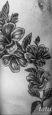 фото тату Гибискус от 20.04.2018 №096 – tattoo Hibiscus – tatufoto.com