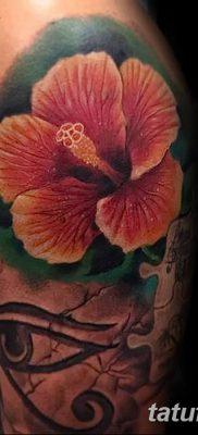 фото тату Гибискус от 20.04.2018 №097 – tattoo Hibiscus – tatufoto.com