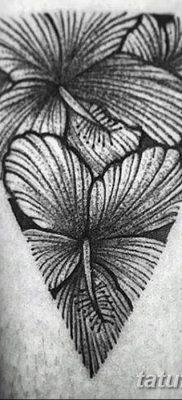 фото тату Гибискус от 20.04.2018 №098 – tattoo Hibiscus – tatufoto.com