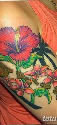 фото тату Гибискус от 20.04.2018 №100 – tattoo Hibiscus – tatufoto.com