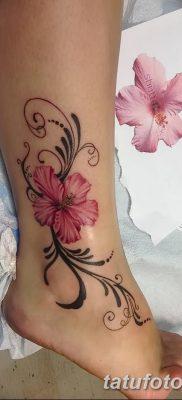 фото тату Гибискус от 20.04.2018 №101 – tattoo Hibiscus – tatufoto.com