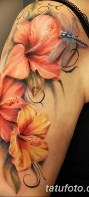 фото тату Гибискус от 20.04.2018 №104 – tattoo Hibiscus – tatufoto.com