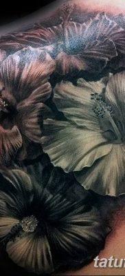 фото тату Гибискус от 20.04.2018 №105 – tattoo Hibiscus – tatufoto.com