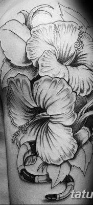 фото тату Гибискус от 20.04.2018 №106 – tattoo Hibiscus – tatufoto.com