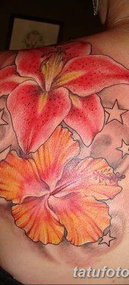 фото тату Гибискус от 20.04.2018 №107 – tattoo Hibiscus – tatufoto.com