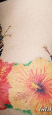 фото тату Гибискус от 20.04.2018 №070 – tattoo Hibiscus – tatufoto.com 34457456322