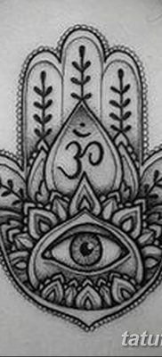 фото тату Рука Фатимы от 24.04.2018 №002 – tattoo Hand of Fatima (hamsa) – tatufoto.com