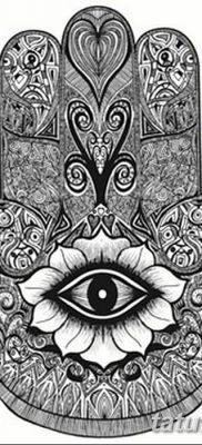 фото тату Рука Фатимы от 24.04.2018 №008 – tattoo Hand of Fatima (hamsa) – tatufoto.com