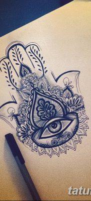 фото тату Рука Фатимы от 24.04.2018 №009 – tattoo Hand of Fatima (hamsa) – tatufoto.com