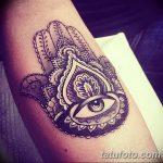 фото тату Рука Фатимы от 24.04.2018 №010 - tattoo Hand of Fatima (hamsa) - tatufoto.com