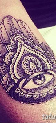 фото тату Рука Фатимы от 24.04.2018 №010 – tattoo Hand of Fatima (hamsa) – tatufoto.com
