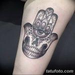 фото тату Рука Фатимы от 24.04.2018 №016 - tattoo Hand of Fatima (hamsa) - tatufoto.com