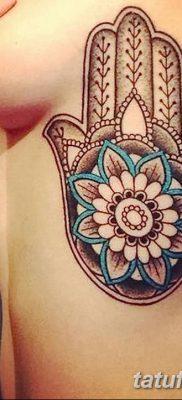 фото тату Рука Фатимы от 24.04.2018 №017 – tattoo Hand of Fatima (hamsa) – tatufoto.com