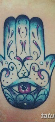 фото тату Рука Фатимы от 24.04.2018 №020 – tattoo Hand of Fatima (hamsa) – tatufoto.com