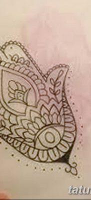 фото тату Рука Фатимы от 24.04.2018 №030 – tattoo Hand of Fatima (hamsa) – tatufoto.com