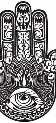 фото тату Рука Фатимы от 24.04.2018 №033 – tattoo Hand of Fatima (hamsa) – tatufoto.com