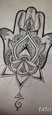 фото тату Рука Фатимы от 24.04.2018 №035 – tattoo Hand of Fatima (hamsa) – tatufoto.com