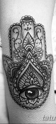 фото тату Рука Фатимы от 24.04.2018 №045 – tattoo Hand of Fatima (hamsa) – tatufoto.com