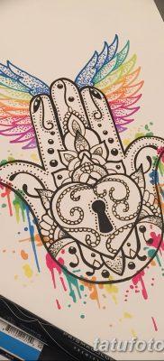 фото тату Рука Фатимы от 24.04.2018 №048 – tattoo Hand of Fatima (hamsa) – tatufoto.com
