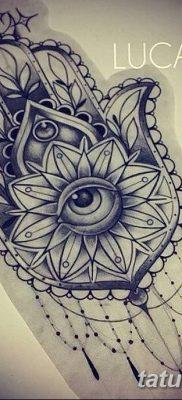 фото тату Рука Фатимы от 24.04.2018 №049 – tattoo Hand of Fatima (hamsa) – tatufoto.com
