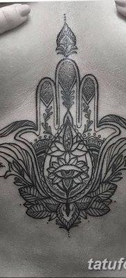фото тату Рука Фатимы от 24.04.2018 №051 – tattoo Hand of Fatima (hamsa) – tatufoto.com