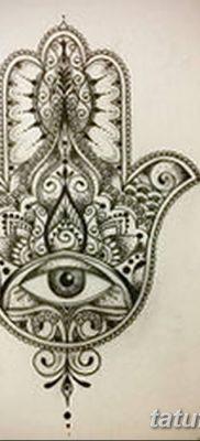 фото тату Рука Фатимы от 24.04.2018 №061 – tattoo Hand of Fatima (hamsa) – tatufoto.com
