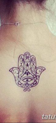 фото тату Рука Фатимы от 24.04.2018 №065 – tattoo Hand of Fatima (hamsa) – tatufoto.com