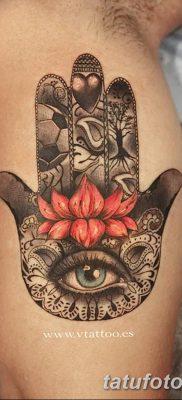фото тату Рука Фатимы от 24.04.2018 №070 – tattoo Hand of Fatima (hamsa) – tatufoto.com