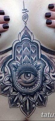 фото тату Рука Фатимы от 24.04.2018 №072 – tattoo Hand of Fatima (hamsa) – tatufoto.com