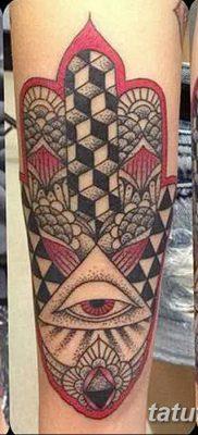 фото тату Рука Фатимы от 24.04.2018 №074 – tattoo Hand of Fatima (hamsa) – tatufoto.com